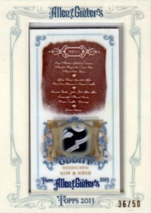 More Odd Cards Being Found In 2013 Allen & Ginter Baseball 5