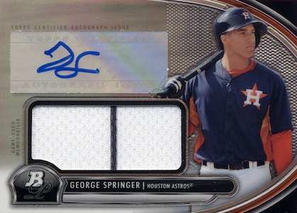 MVP! Top George Springer Rookie Cards and Key Prospects 35