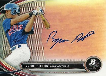 2013 Bowman Platinum Prospect Autographs Byron Buxton