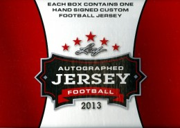 2013 Leaf Autographed Jersey Football 1