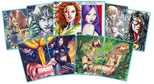 2013 Rittenhouse Women of Marvel Series 2 Sketch Cards