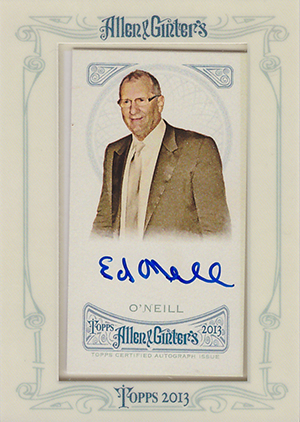 2013 Topps Allen and Ginter Autographs Ed O'Neill