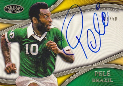 2013 Topps Tier One Autographs Pele