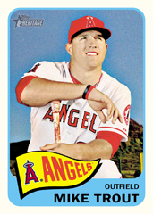 2014 Topps Heritage Baseball Mike Trout
