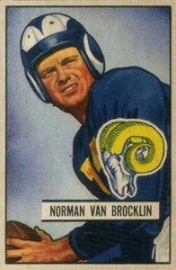 1951 Bowman Norm Van Brocklin RC