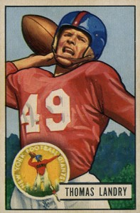 1951 Bowman Tom Landry RC