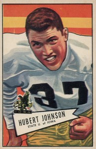1952 Bowman Large Hubert Johnston RC