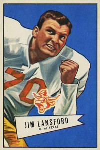 1952 Bowman Large Jim Lansford RC