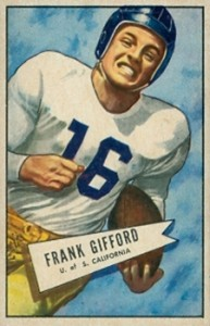 1952 Bowman Small Frank Gifford RC