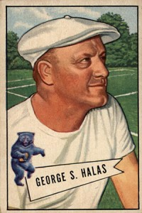 1952 Bowman Small George Halas RC