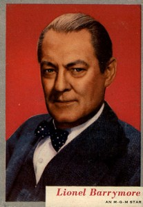 1953 Topps Who-Z-At Star 23 Lionel Barrymore