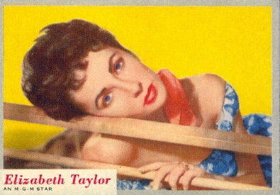 1953 Topps Who-Z-At Star 52 Elizabeth Taylor