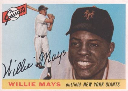 1955 Topps Baseball Willie Mays