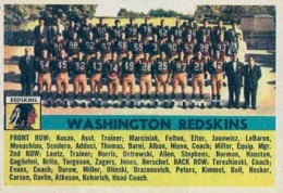 1956 Topp Washington Redskins