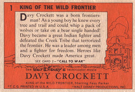 1956 Topps Davy Crockett Orange Back Trading Cards 2