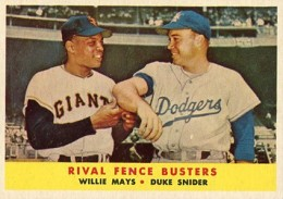 1958 Topps Willie Mays Duke Snider