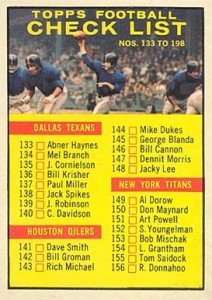 1961 Topps Checlist #198