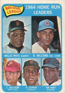 Vintage Willie Mays Baseball Card Timeline: 1951-1974 79
