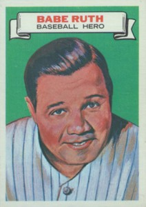 1967 Topps Who Am I 12 Babe Ruth no disguise