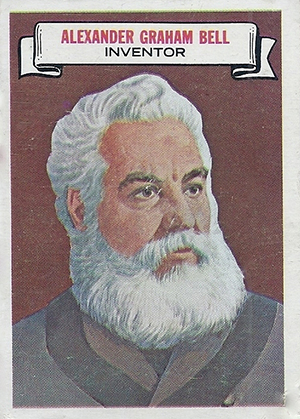 1967 Topps Who Am I? Alexander Graham Bell No Disguise
