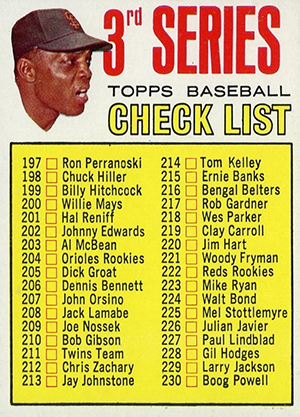 Vintage Willie Mays Baseball Card Timeline: 1951-1974 86