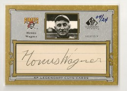 2001 SP Legendary Cuts Honus Wagner Cut Signature