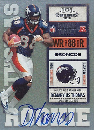 Demaryius Thomas Rookie Cards - 2010 Playoff Contenders
