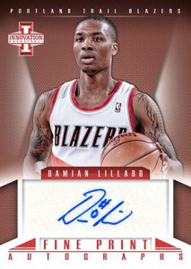 Damian Lillard Autographs in 2012-13 Panini Innovation Basketball 2
