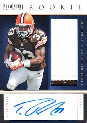 Trent Richardson Cards, Rookie Cards and Autographed Memorabilia Guide 26