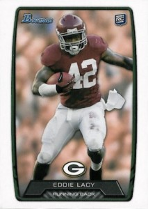 Eddie Lacy Rookie Card Checklist and Visual Guide 1