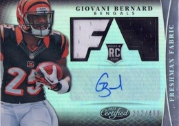2013 Certified Football Freshman Fabric Signatures Giovani Bernard #312