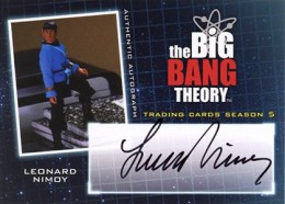 2013 Cryptozoic Big Bang Theory Season 5 Autographs Leonard Nimoy