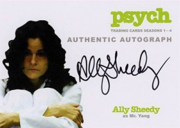 2013 Cryptozoic Psych Seasons 1-4 Autographs Don't Mess with Your Head 4