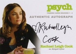 2013 Cryptozoic Psych Seasons 1-4 Autographs Don't Mess with Your Head 3