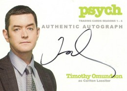 2013 Cryptozoic Psych Seasons 1-4 Autographs Don't Mess with Your Head 11