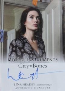 2013 Leaf The Mortal Instruments: City of Bones Autograph Guide 13