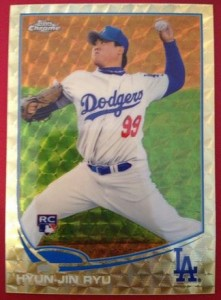 2013 Topps Chrome Hyun-Jin Ryu SuperFractor