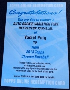 2013 Topps Chrome Baseball - Top Early Pulls and Hit Tracker 1