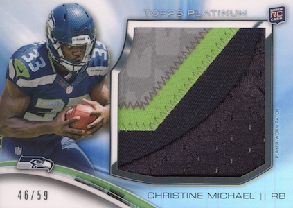2013 Topps Platinum Football Cards 15