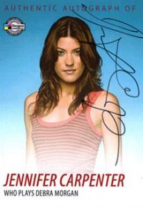 2009 Breygent Dexter Autographs DA3 Jennifer Carpenter as Debra Morgan