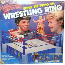 LJN WWF Wrestling Figures Ring