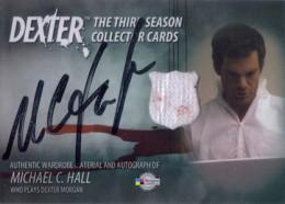 2010 Breygent Dexter Season 3 Autographed Costume Card Michael C. Hall as Dexter Morgan (Black)