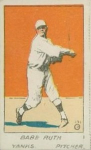 1920 W516 Strip Card Babe Ruth