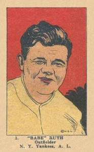 1923 W515 Strip Card Babe Ruth