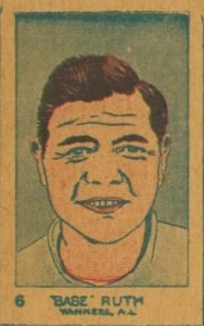 1926 W512 Strip Card Babe Ruth