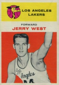 1961-62 Fleer Jerry West RC #43