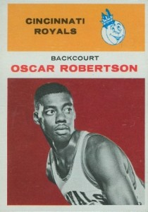1961-62 Fleer Oscar Robertson RC #36