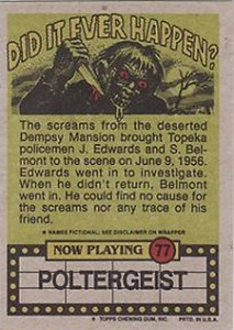 1988 Topps Fright Flicks Trading Cards 4