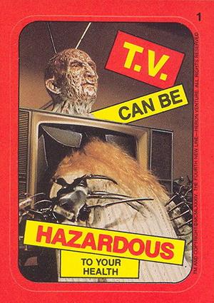 1988 Topps Fright Flicks Trading Cards 23
