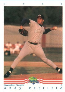 Andy Pettitte Minor League Baseball Card Guide 2